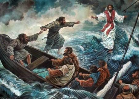 マタイ福音書14:22-36]湖の上を...